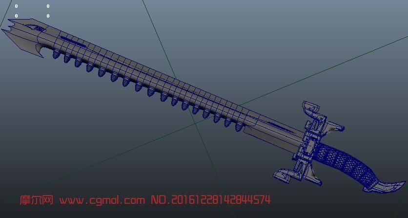 maya鲨齿模型