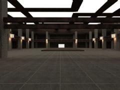 简易中式大厅场景