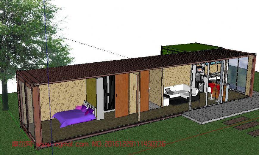 集装箱民宿设计图展示