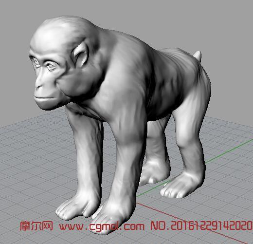 行走猴子3D打印文件