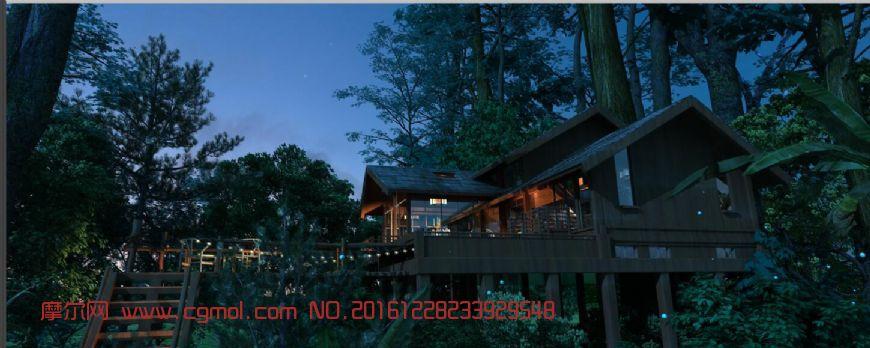 森林小木屋,清吧夜景(网盘下载)