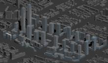 商业地形建筑配景