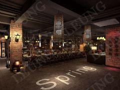 现代复古格调餐厅,咖啡厅