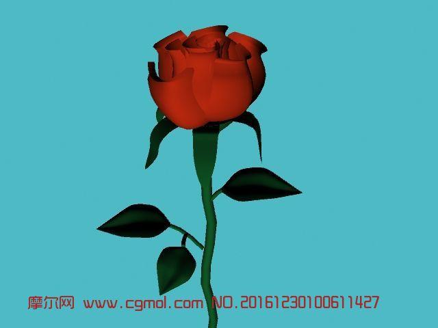 玫瑰花maya2013模型