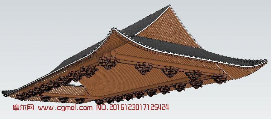 中式斗拱屋顶建筑