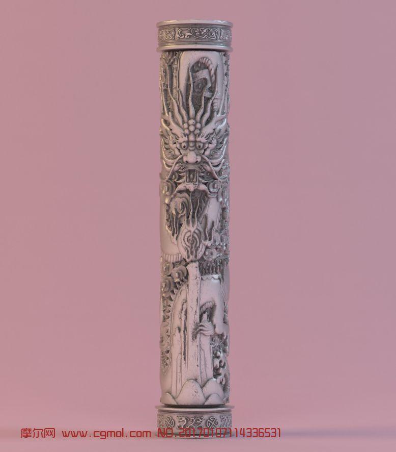 原创龙柱雕塑,盘龙柱