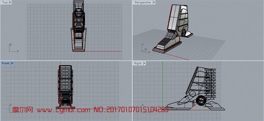 犀牛机械脚建模