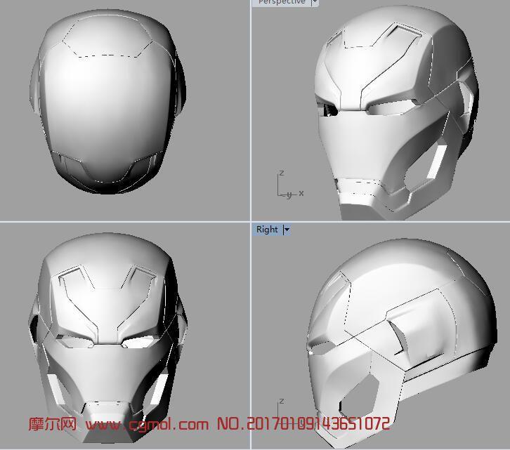 钢铁侠46代头盔