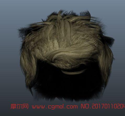 maya真实写实头发模型