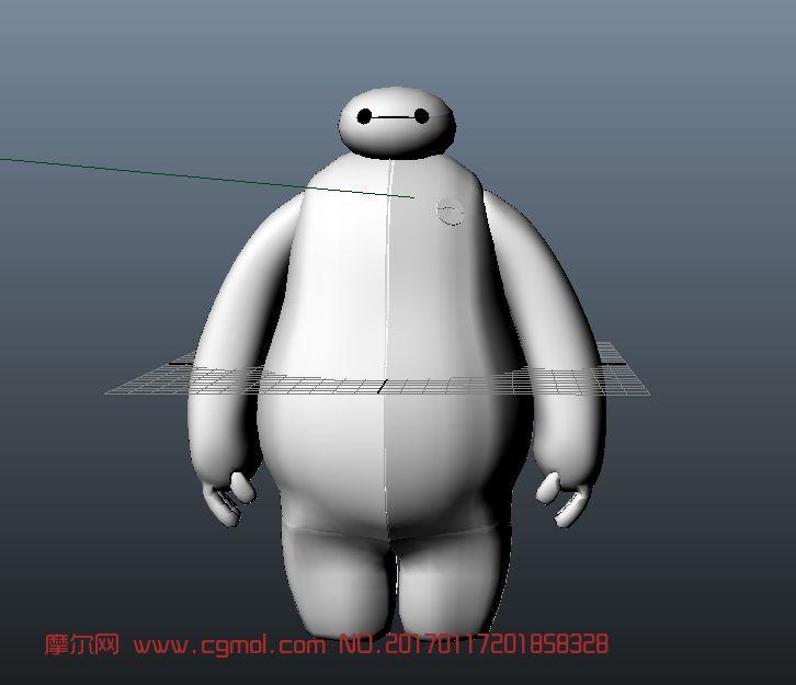 超能陆战队大白3D模型