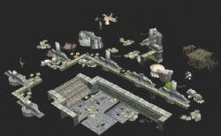 外景废墟建筑构件max模型