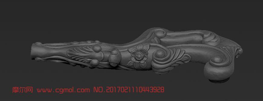 沙发脚stl模型