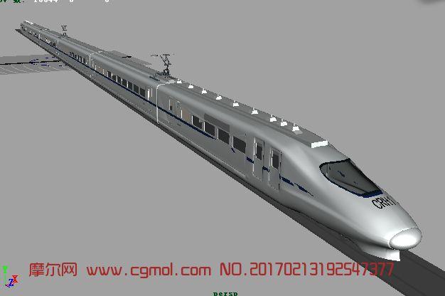 高速列车maya模型