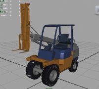 叉车maya模型
