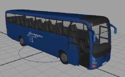 公交车maya模型,自动关门开走动画