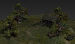 押镖队在山野的临时住所