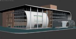 现代风格办公了建筑模型