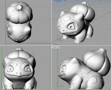 妙蛙种子stl模型,口袋妖怪