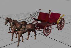 马车maya2009有贴图绑定动画