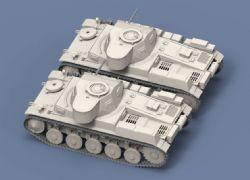 德国二号坦克高精度模型