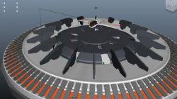 飞船返回基地着陆动画maya模型