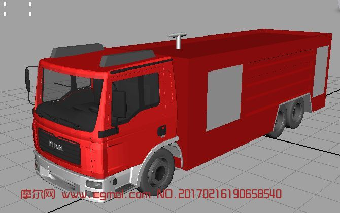 简易消防车maya2009模型