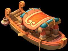一款很卡通�L的小船模型