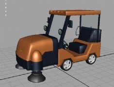 清扫车maya2009模型