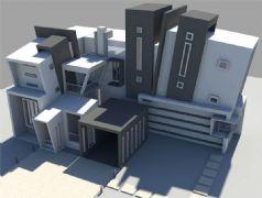 maya个性房屋设计