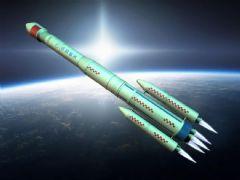 原创中国长征3号运载火箭,太空运输模型