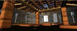 一个木制房子内部空间
