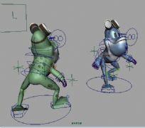 青蛙maya2009模型贴图绑定动画