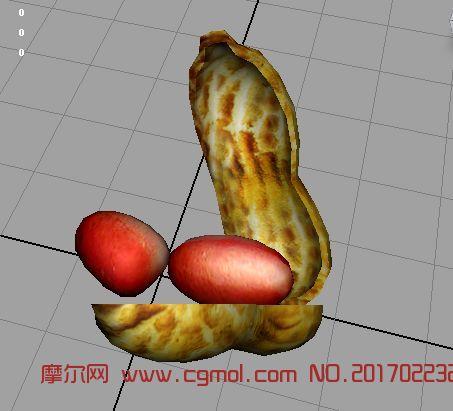 花生剥开maya2009贴图动画