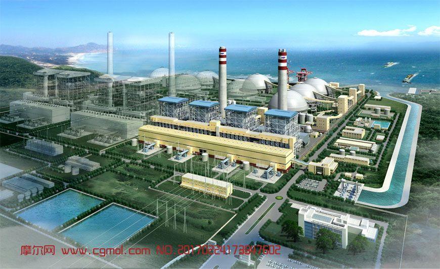 精细红海湾发电厂max模型