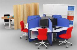 圆形办公桌+文件柜