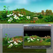卡通农场菜园maya模型(部分贴图)
