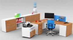 实木办公桌+文件柜