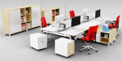 现代办公桌,四人标准配置