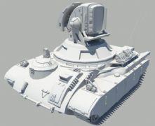 光棱坦克,激光坦克Maya模型