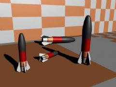 卡通小导弹maya模型