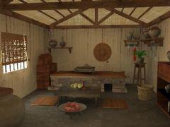 古代贫民房子内饰
