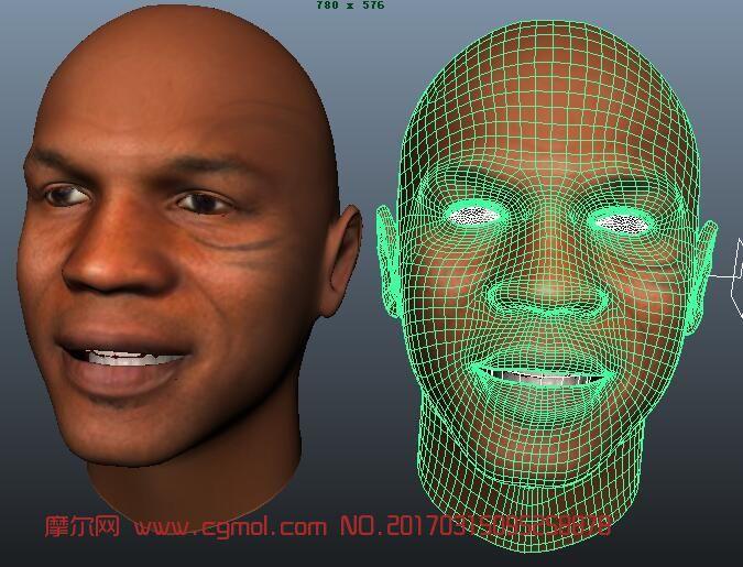 泰森maya模型