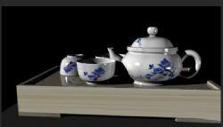茶具一套maya模型,无贴图