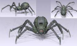 机械蜘蛛,带完整贴图,obj,max,mb三种格式