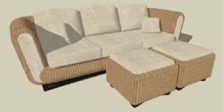 布艺沙发su模型