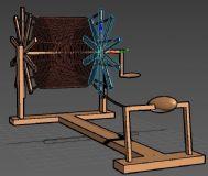 少数民族纺线机,纺织机max模型