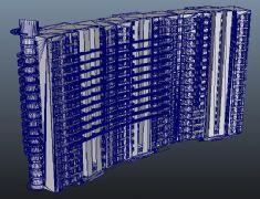 高层联排小区住宅maya模型