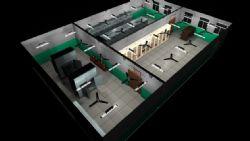 一个变压器室的maya场景