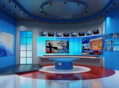 3d新闻演播室