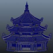 三�泳����塔maya模型